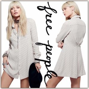 NWT Free People This Town Printed Top Shirtdress